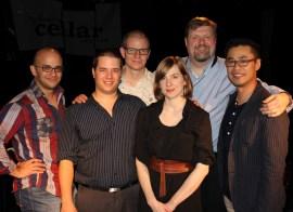 Adrean Farrugia, Ernesto Cervini, Dan Loomis, Tara Davidson, Joel Frahm, and William Carn. Photo by Jesse Cahill.