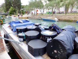 Moving the instruments in Venice.