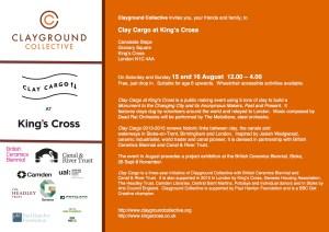 Event invitation Clay Cargo at KX