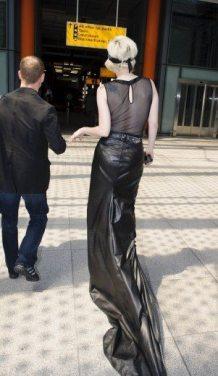 Lady GaGa atterra a Heathrow 7