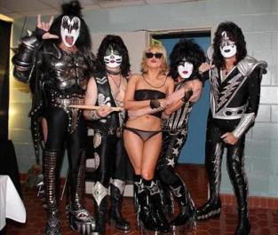 Kiss e Lady GaGa
