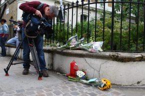 Cameramen nei pressi di Camden Square