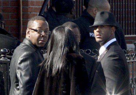 Bobby Brown ai funerali di Whitney Houston | © Bennett Raglin/Getty Images
