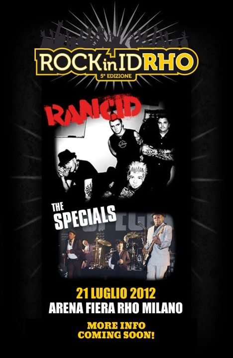 Rock in IdRho 2012, The Special nel cast