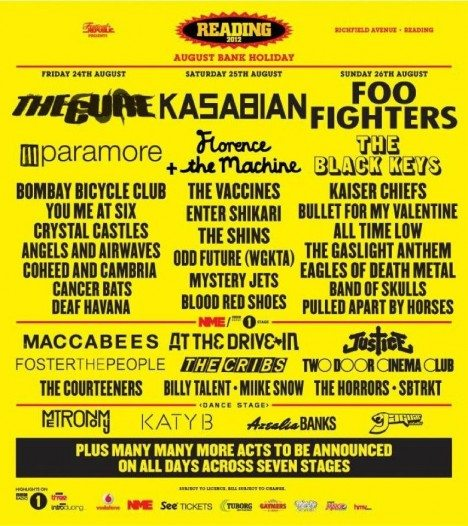 Reading & Leeds Festival 2012