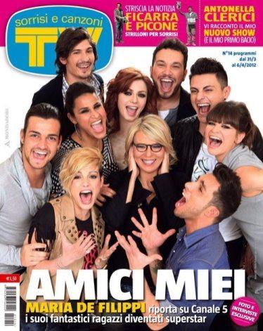Copertina Tv Sorrisi e Canzoni - Amici