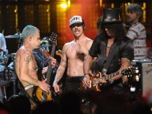 Flea, Anthony Kiedis e Slash   © Michael Loccisano/Getty Images