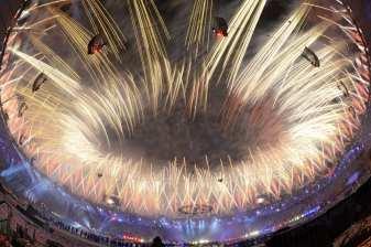 Fuochi d'artificio per la Cerimonia di Chiusura Londra 2012