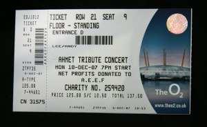 Led Zeppelin Concerto alla O2 Arena - Biglietto