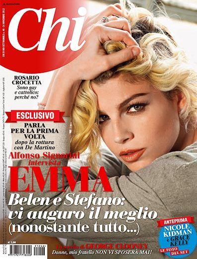 """Emma Marrone, l'intervista a Chi: """"Auguro a Stefano e Belen il meglio"""""""