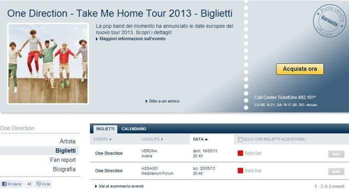 Annunciato il sold out per gli One Direction, l'ira dei fan su Twitter