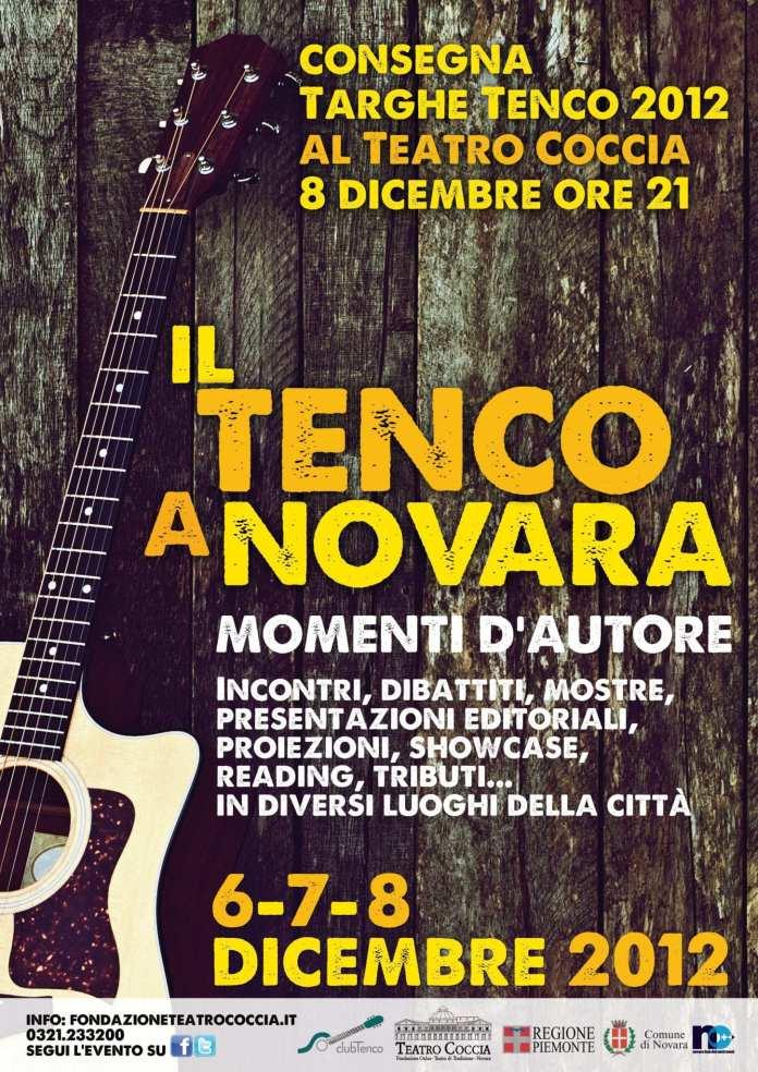 """""""Il Tenco a Novara"""", dal 6 all'8 Dicembre la città si tinge di eventi"""