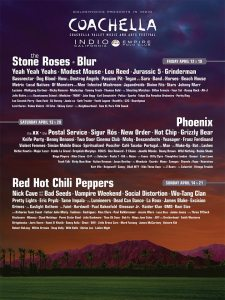 Coachella Festival Lineup © Official Facebook Page