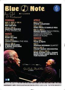 Calendario eventi al Blue Note Milano