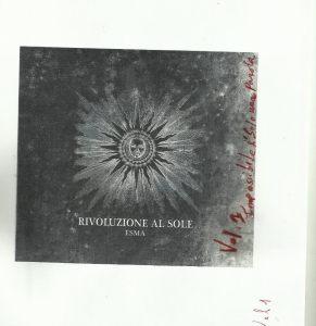 ESMA - Rivoluzione al sole Vol.1 - Artwork
