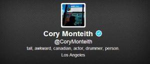 Cory Monteith - Profilo Twitter