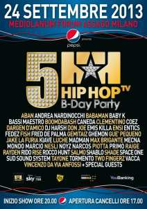 HIP HOP TV B-DAY PARTY - 24 Settembre Milano