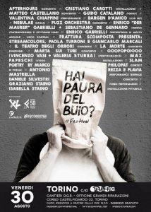 """Locandina """"Hai paura del buio?"""" al Traffic Festival di  Torino"""