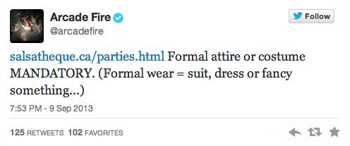 Arcade Fire © Twitter