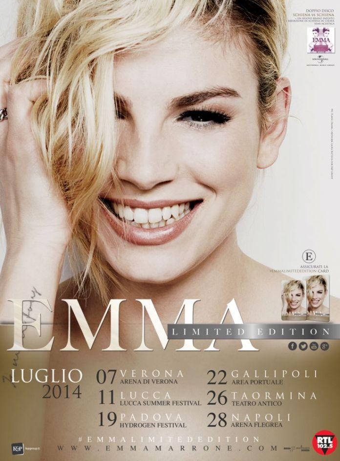 """""""Emma Limited Edition"""", 6 concerti live per Emma Marrone"""
