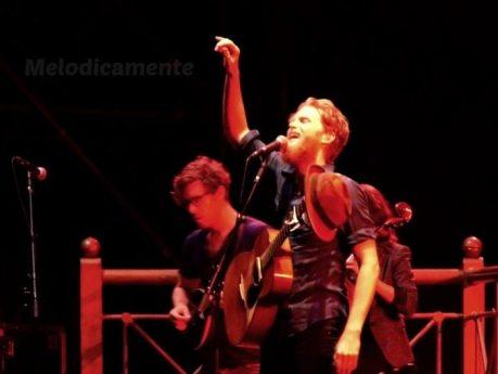 Wesley Keith Schultz con i Lumineers   © Melodicamente