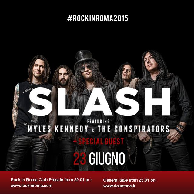 Slash & Myles Kennedy al Rock in Roma