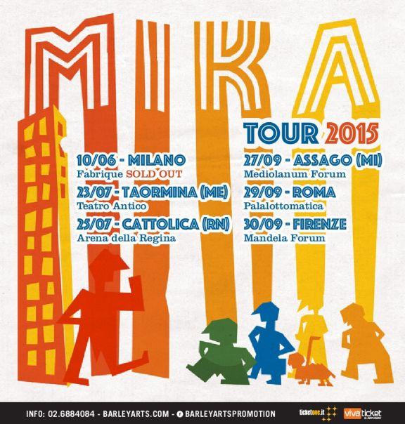Mika aggiunge altre 5 date in Italia. Tutti i dettagli