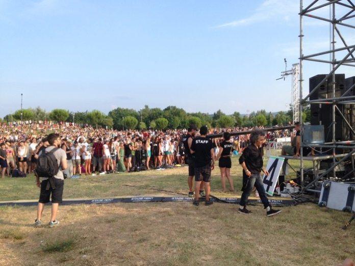 Marco Sabiu e Rockin' 1000 a Cesena - 26 luglio 2015