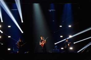 James Bay performs on the stage during the MTV EMA's 2015 at the Mediolanum Forum on October 25, 2015 (Photo by Jeff Kravitz/FilmMagic)