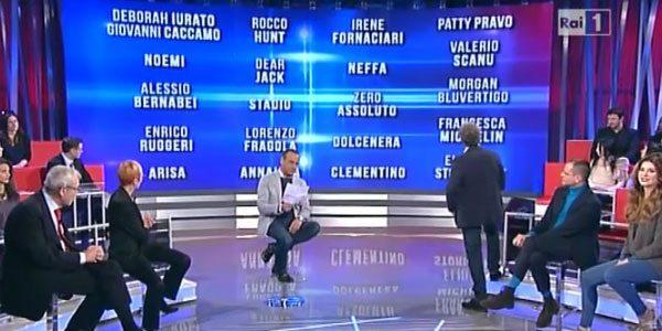 Svelati i nomi dei big di Sanremo 2016