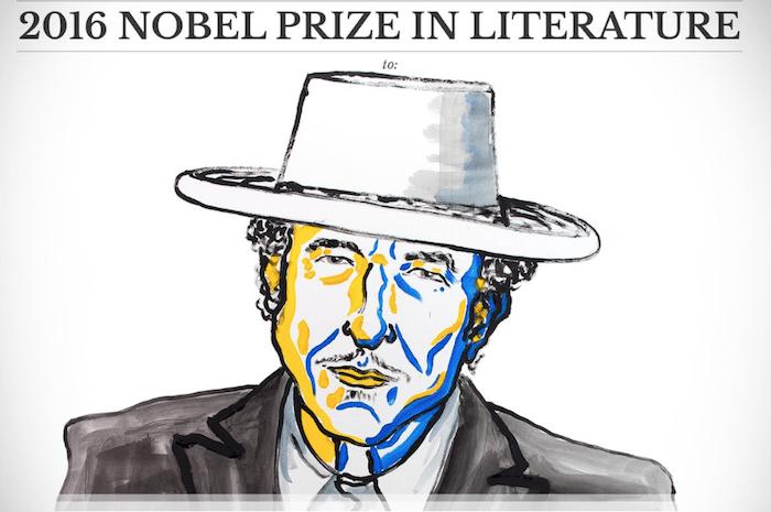 Bob Dylan premio Nobel per la Letteratura 2016