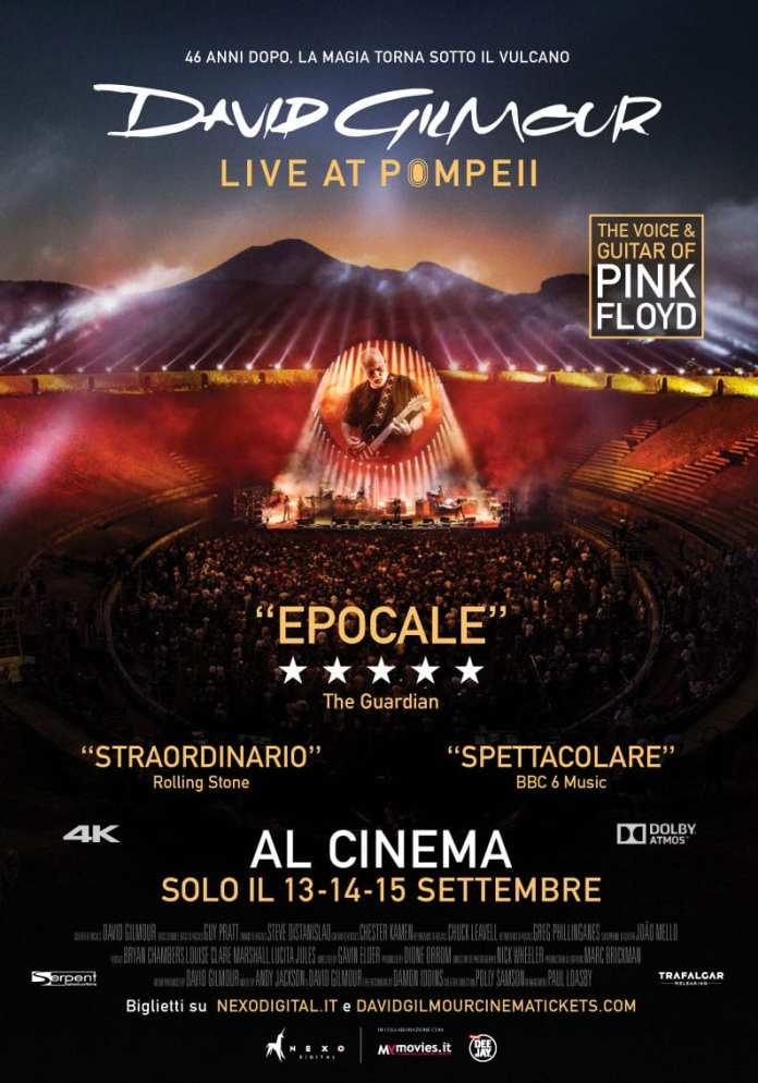 David Gilmour: Live at Pompeii al cinema per 3 giorni