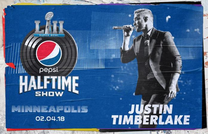 Justin Timberlake sarà protagonista del Super Bowl Halftime Show 2018