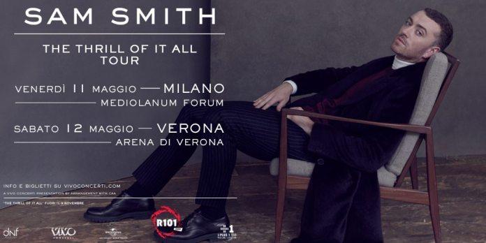 Sam Smith in concerto a Milano e Verona a maggio