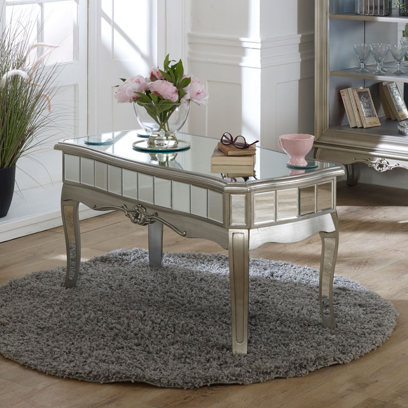 antique silver mirrored coffee table tiffany range