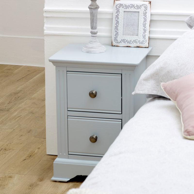 details sur slim gris chevet table rangement bois peint vintage rustique moderne decor