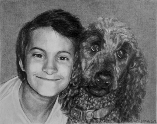 mstarkweather_masongracie_standardpoodleandchildportraitdrawing
