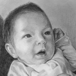 "Asher, 2012, Graphite Pencil Drawing on Paper, 5""x7"""