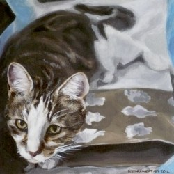 "Casey, 2012, Full Colour Acrylic Painting on Canvas, 12""x12"""