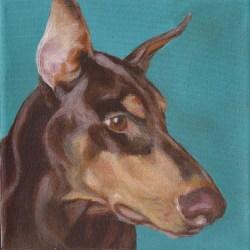 """Karma, 2012, Full Colour Acrylic Painting on Canvas, 8""""x8"""""""