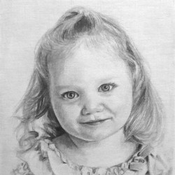 "Maddy, 2012, Graphite Pencil Drawing on Paper, 5""x7"""
