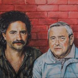 """Dave & Al, 2019, Acrylic Painting on Canvas, 9"""" x 12"""""""