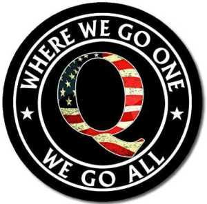 Black Round w/USA Q - Where We Go One We Go All Sticker
