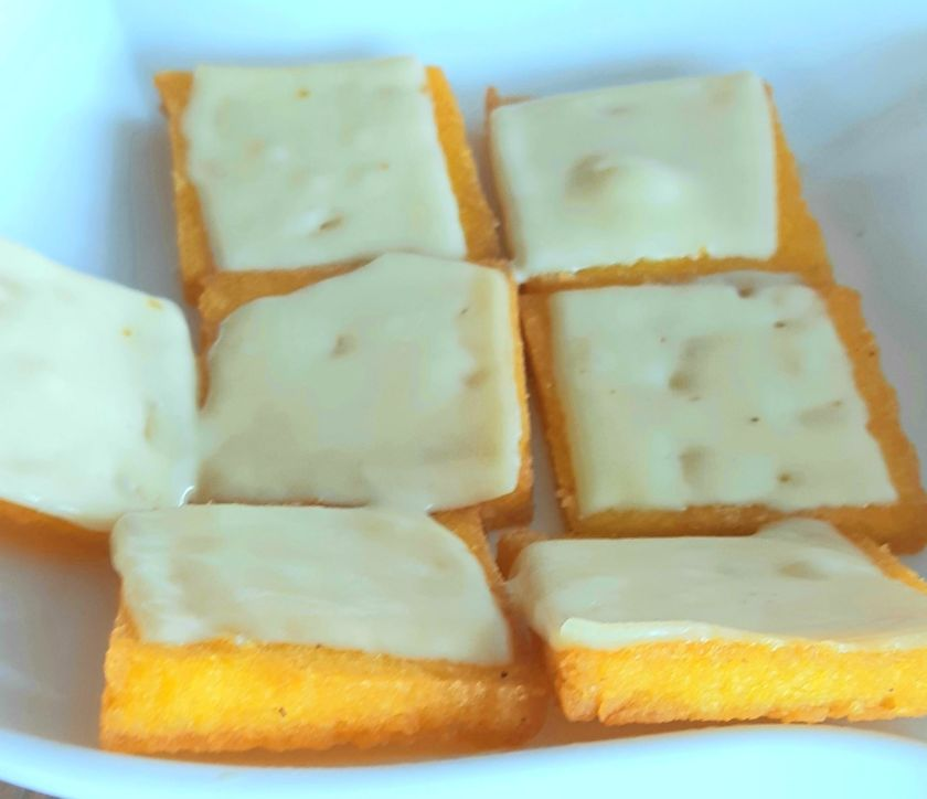 Funchi with cheese