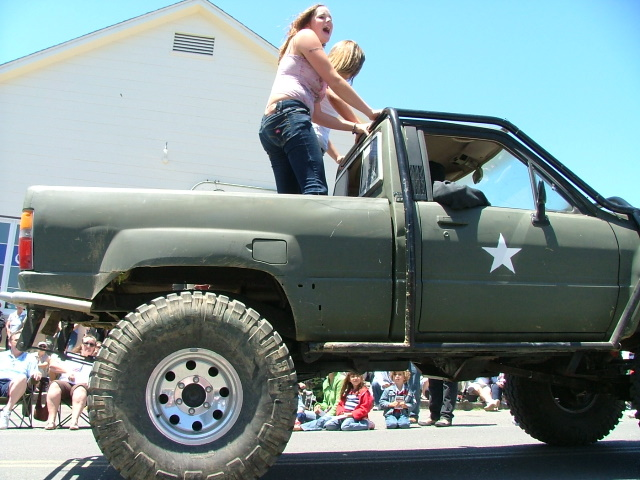 hick truck in the mendocino fourth of july parade