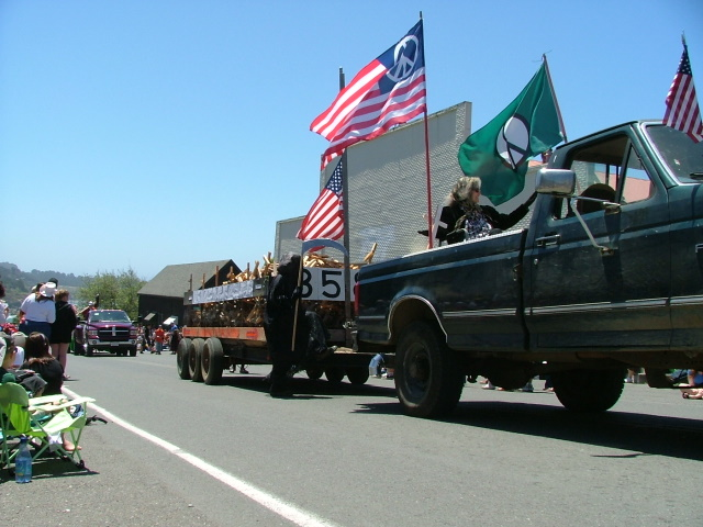 death truck in the mendocino fourth of july parade