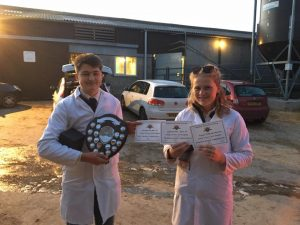 Shaunna Knight & Luke Johnston, winners of Intermediate class - Marshwood Vale YFC