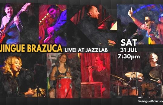 Suingue Brazuca and Special Guest Mario Broder At Jazzlab – Samba Jazz & MPB