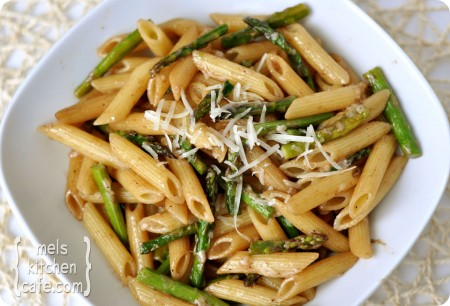 Asparagus Pasta with Balsamic Butter