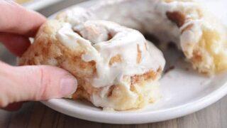 Flaky Buttermilk Biscuit Cinnamon Rolls {No Yeast, No Rising}